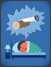 Snurkende man